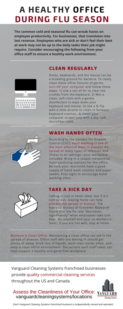 Office Flu Prevention Info-graphic