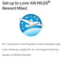 Get up to 1000 Air Miles Rewards logo new window to terms